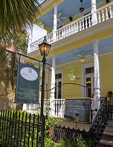 Poogan's Porch restaurant in Charleston, SC - one of our favorite restaurants...soooooo good!  (and haunted?!)