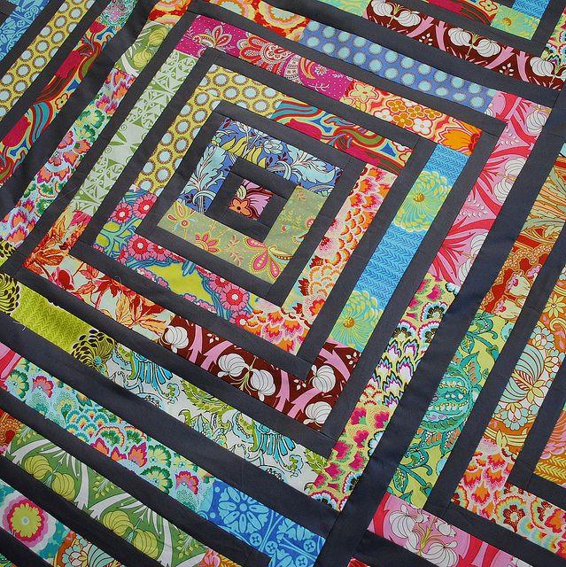 Squared off scrap quilt