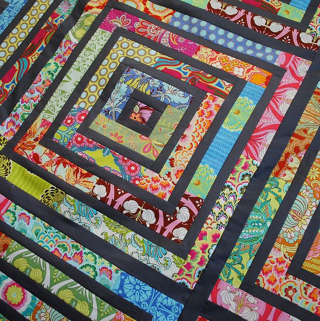 Scrap Quilt-this is beautiful!: Scrap Quilts, Scraps Quilt, Bright Color, Rolls Quilts, Jelly Rolls, Soul Blossoms, Quilts Ideas, Logs Cabin, Amy Butler
