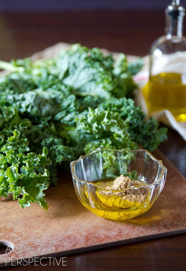 Zesty Baked Kale Chips Recipe #kale #healthy #fall #vegan #paleo