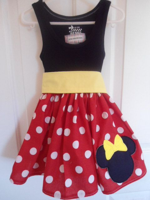 Red and white minnie dress.