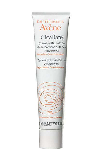 "This French pharmacy find is a common sight because of its soothing properties. ""All day, these girls have makeup being put on and taken off,"" explains artist Alice Lane, who was backstage applying this product on each and every face she touched at Suno. ""It's so important that we take care of their skin with a calming, nourishing formula."""