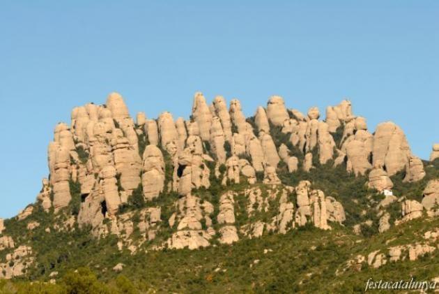 Muntanya de Montserrat vista des del Bruc - Catalonia.
