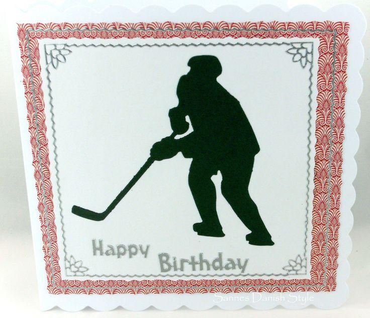 Karte für alle Eishockey Spieler und Fans.