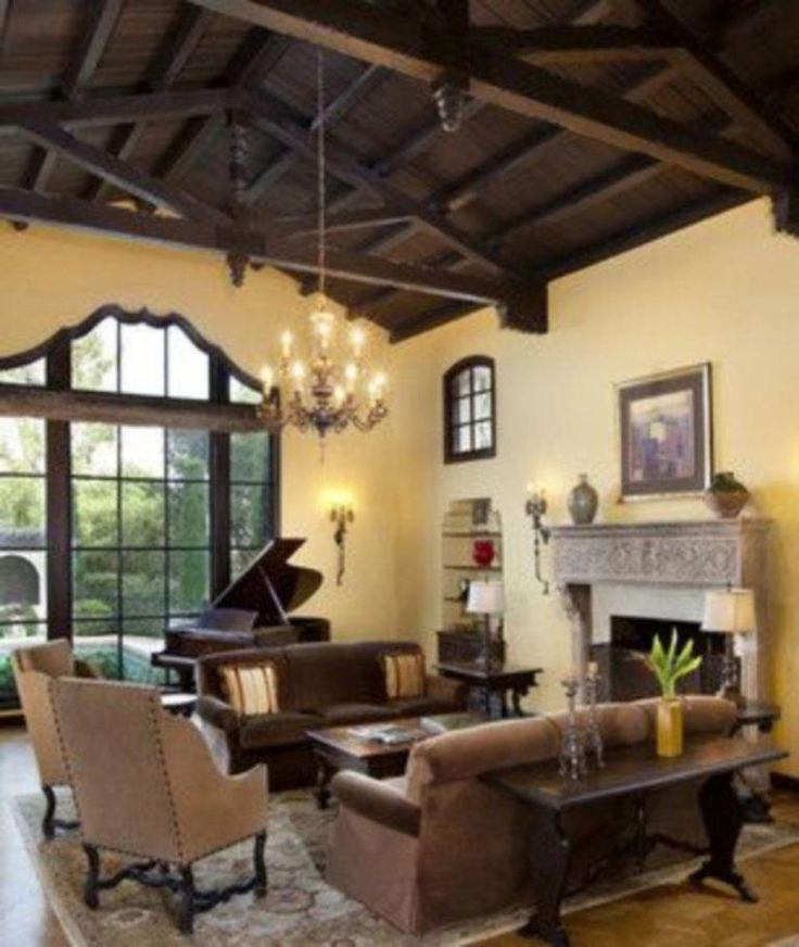 Living Room Paint Ideas With Brown Furniture 16 #Spanishstylehomes