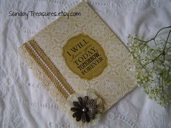 I Will Love You Today Tomorrow Forever / Book by SundayTreasures