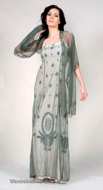 40118 Nataya Dress in Silver/Ivory