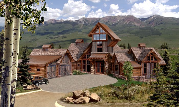 wonderful architecture design big mountain house made from