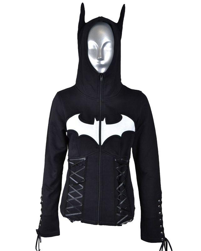 Poizen Batman Night Girls Hoodie :: VampireFreaks Store :: Gothic Clothing, Cyber-goth, punk, metal, alternative, rave, freak fashions