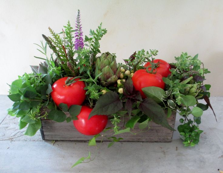 When the person that ordered floral arrangements doesn't really want flowers...what do you do? Forage for fruits, veggies, herbs and berries ;) #AlisonBuckFloralDesign www.AlisonBuckFloralDesign.com