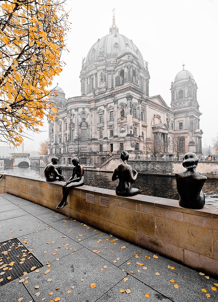 Berlin - Germany 4 bathers statue across from museum mile.. If you are a Germany Lovers, check out this Germany collection, you may like it :) https://etsytshirt.com/germany #germanylovers #ilovegermany