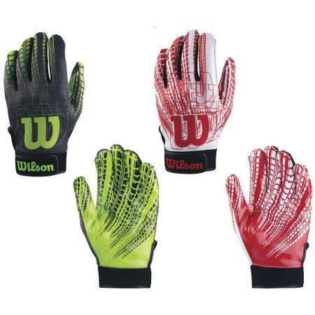 Wilson Super Grip Adult Football Receiver Gloves, Assorted