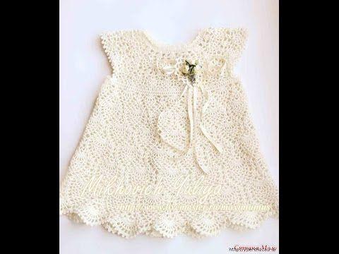 Crochet dress| How to crochet an easy shell stitch baby / girl's dress for beginners 3 - YouTube