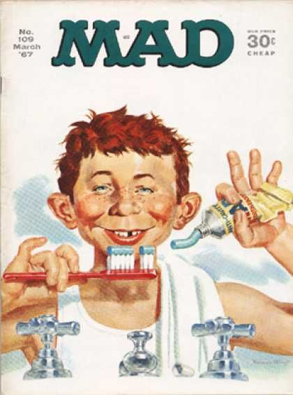 Sink - Red Hair - Toothpaste - Toothbrush - Gapped Tooth