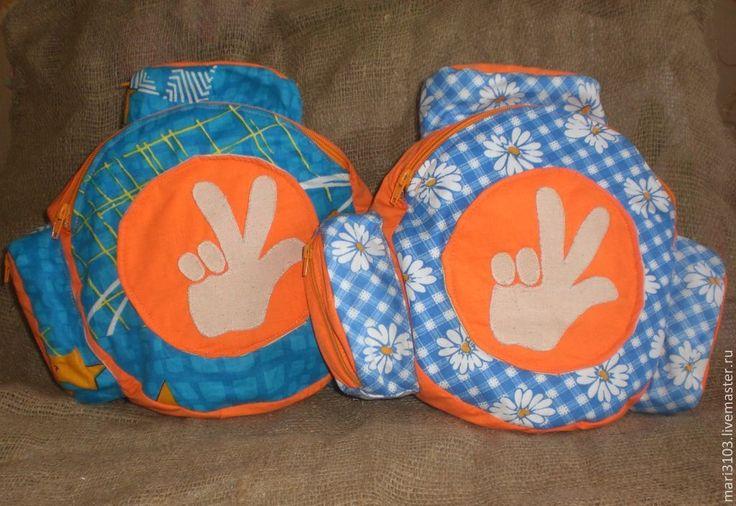 Купить детский рюкзак Помогатор - разноцветный, абстрактный, рюкзак, рюкзачок, детский рюкзак, фиксики, помогатор