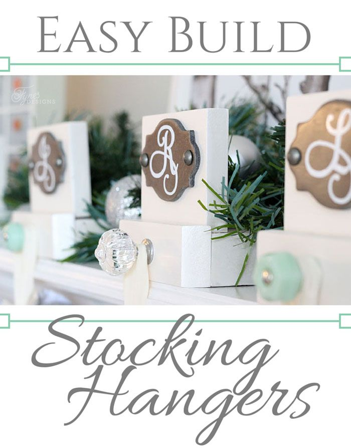 Virginia at Fynes Designs used some of our prettiest knobs to make customized stocking hangers for her home. Great idea and easy to do yourself. A tutorial is included.