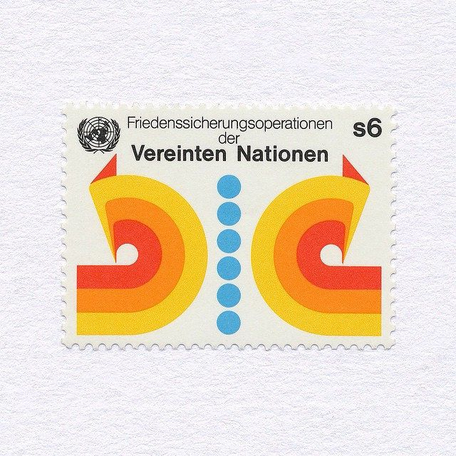 United Nations Peacekeeping Operations, Vienna (s6). United Nations, 1980. Design: Unknown. #mnh #graphilately