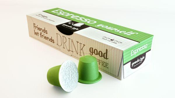 Goedcupje package design by Freek van Haagen