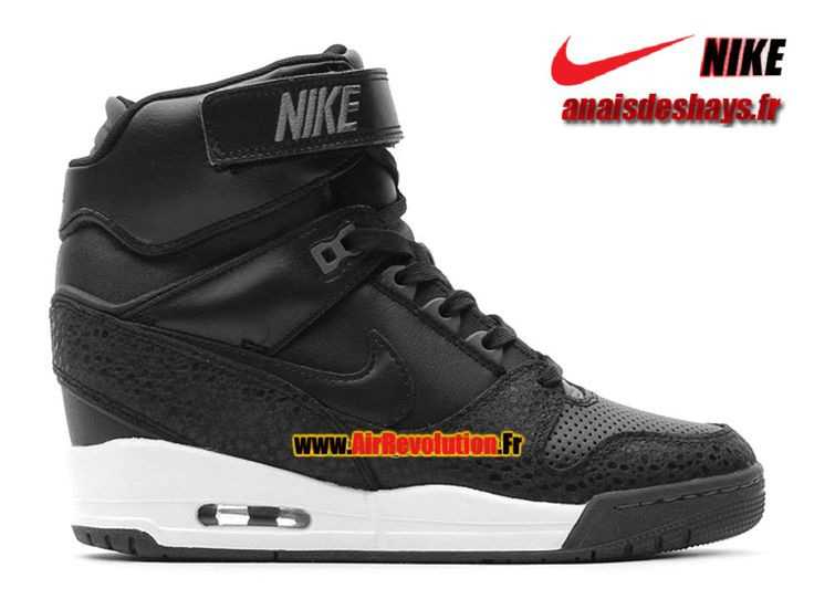 Boutique Officiel Nike Air Revolution Sky Hi GS Noir/Noir/Bleu arsenal foncé 599410-003