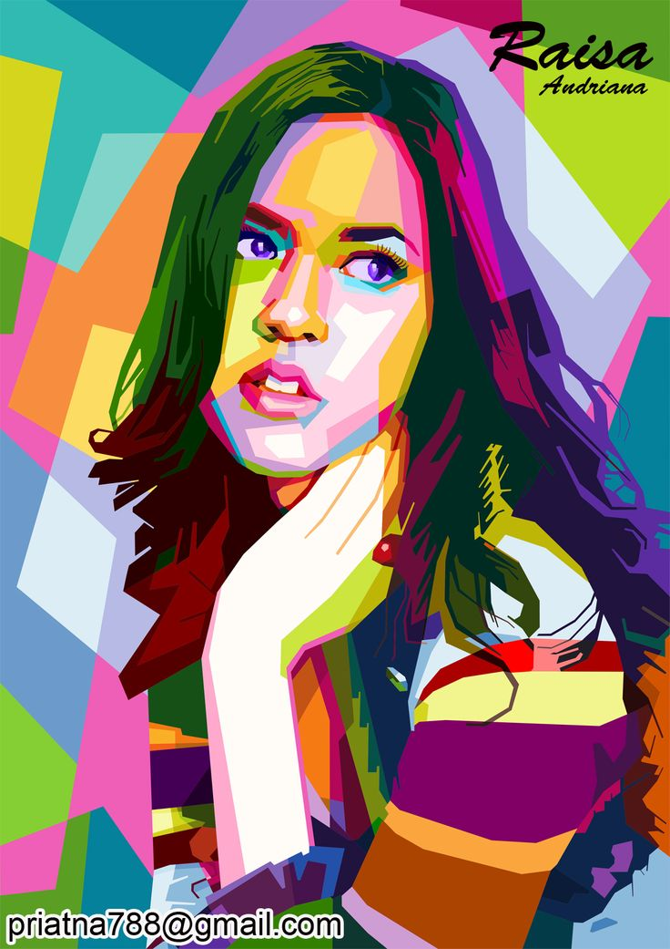 Raisa Andriana on wpap.more info and order priatna788@gmail.com pinbb 54FD2723 #wpap #pop #art #illustration #vector #Raisa #Andriana