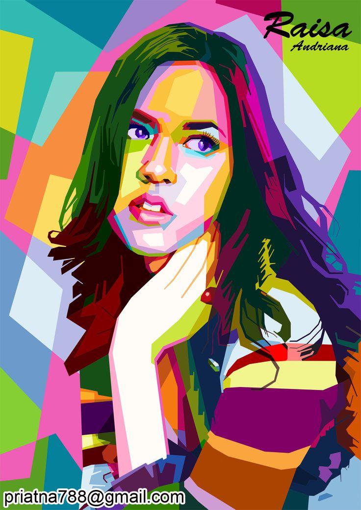 Raisa Andriana on wpap.more info and order priatna788@gmail.com pinbb 54FD2723 #wpap #pop #art #illustration #vector #Raisa #Andriana