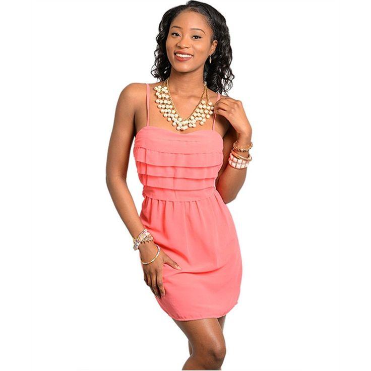 Stylish spaghetti straps dress