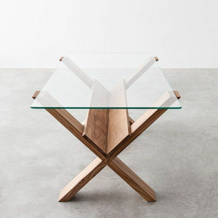 Best 25 table basse verre et bois ideas on pinterest - Table verre et bois ...