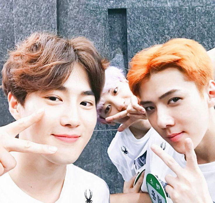 Suho, Chanyeol and Sehun