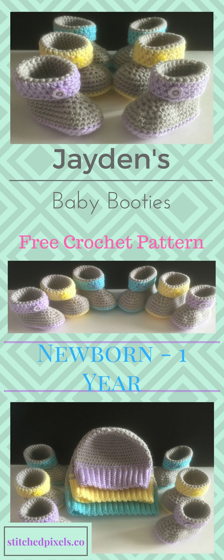 The second part of the Jayden baby set is ready to go! It's bootie time!
