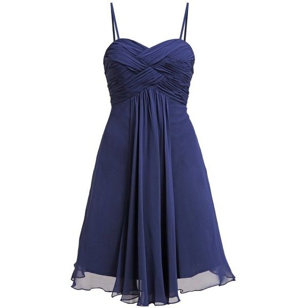 Laona Cocktail dress Party dress nautical blue ❤ liked on Polyvore featuring dresses, nautical cocktail dress, nautical dresses, blue cocktail dresses and blue dress