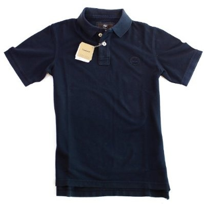Timberland Navy Vintage Pique Polo Shirt Mens Top £29.99