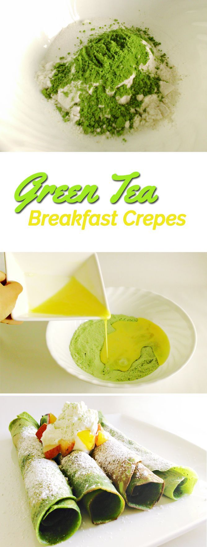 Matcha green tea can be so versatile, and adding it as an ingredient gives some of our favorite foods, such as crepes, an energizing, antioxidant-packed boost! With nutritional properties equivalent to 10x that of regular green tea, a little matcha goes a long way. But it's not only about nutrition – these matcha green tea crepes taste as appetizing as they look Find more stuff: www.victoriasbestmatchatea.com
