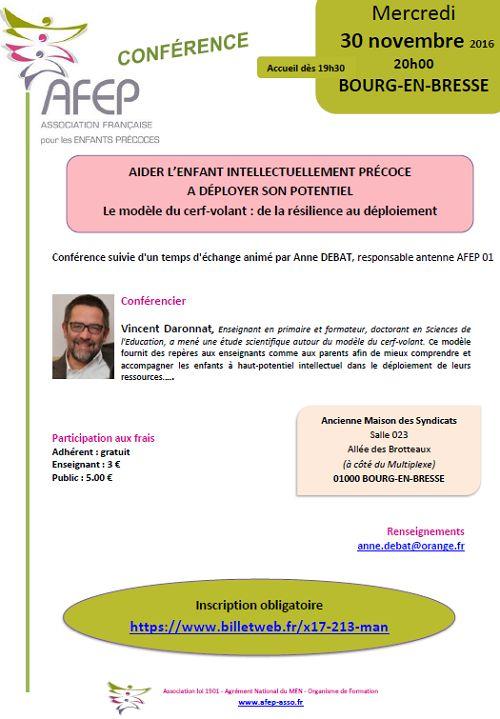 Le 2nd partage : une conférence #AFEP à Bourg en Bresse le mercredi 30 novembre, à partir de 20h00 :)  Le doctorant #VincentDaronnat présentera ses travaux de recherche en sciences de l'éducation (Y)  Découvrez l'objet de sa thèse & son appel à participation sur les Tribulations ;)