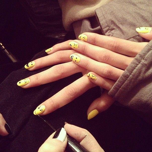 Emoji Nails at Assembly New York | 18 Nail Ideas From New York FashionWeek