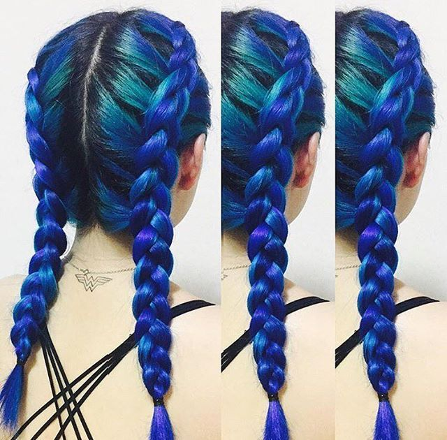 Feeling blue?  @kissed__her  certainly is (in a great, Manic Panic sort of…