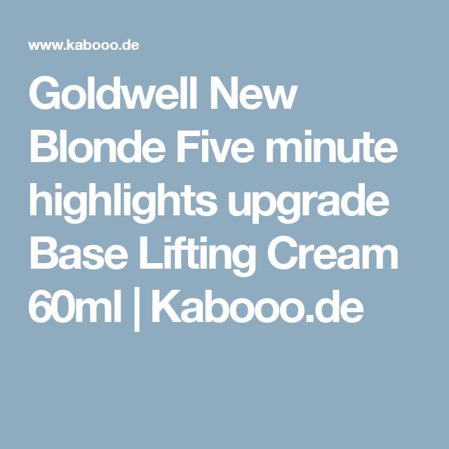 Goldwell New Blonde Five minute highlights upgrade Base Lifting Cream 60ml | Kabooo.de