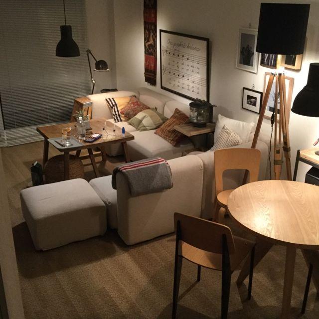 piyohopさんの、Overview,ソファー,無印良品,照明,IKEA,ソファ,ニトリについての部屋写真