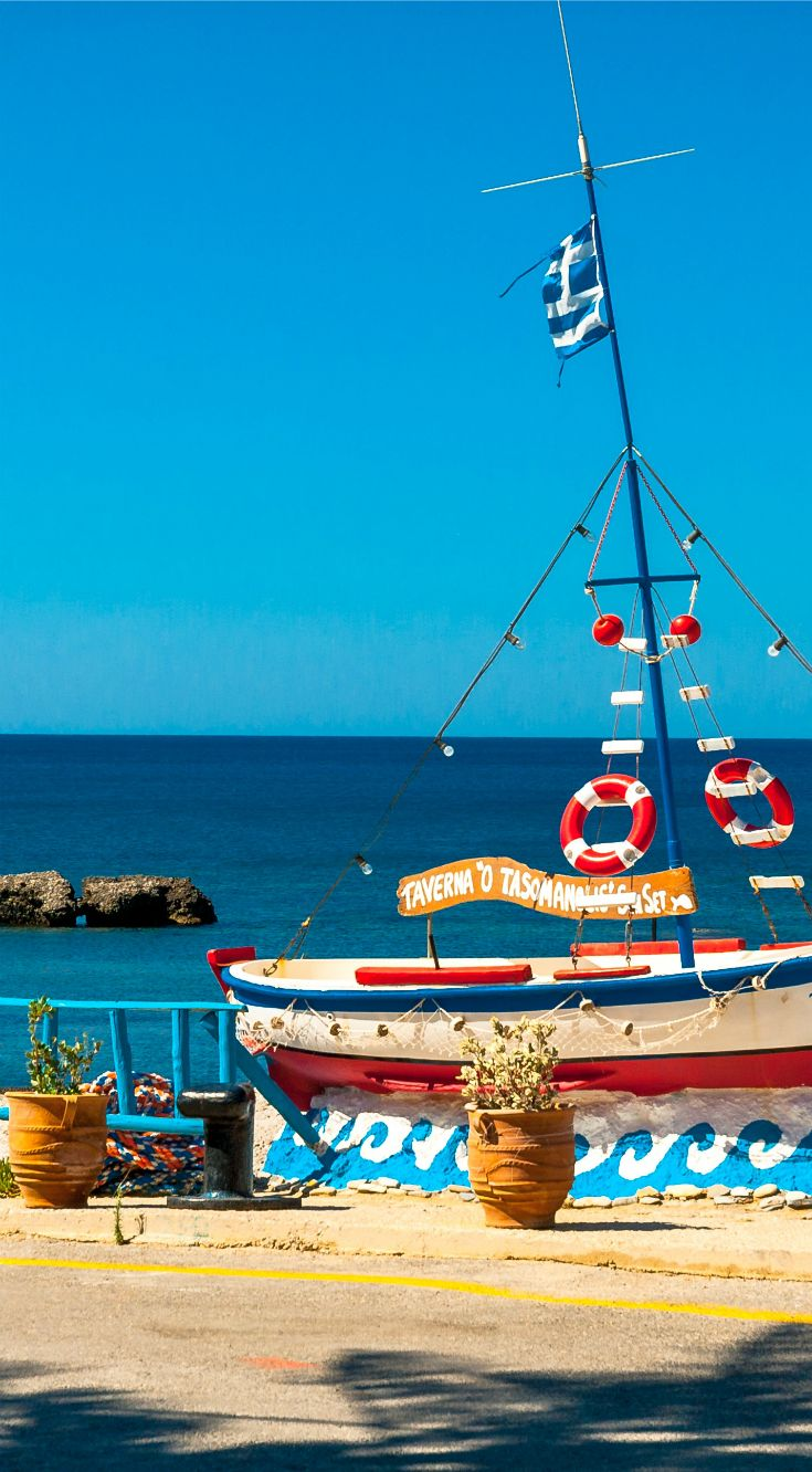 Summer in Crete, lovely sea view from Plakias village!
