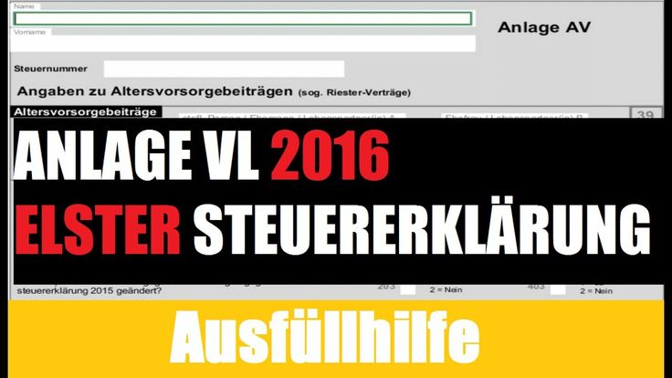 Anlage AV 2016 zur Steuererklärung 2016 mit Elster. Wie das geht erfahren Sie hier: