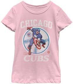 MLB Chicago Cubs Captain America Girls T-Shirt