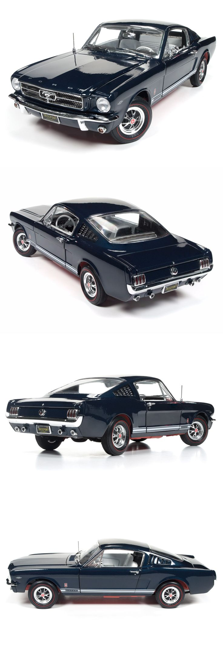 Contemporary manufacture 180506 1965 ford mustang gt blue 1 18 scale diecast car model by