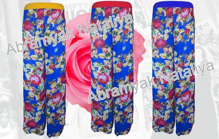 Royal blue chiffon pants Floral chiffon pants plus size Chiffon pants with flower print for women Ankara chiffon beach pants cover up by AbramyakClothing on Etsy