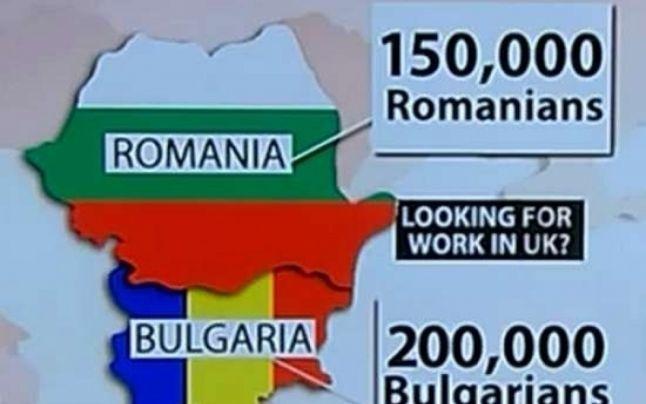 """Reacţii ironice la """"invazia"""" din Regatul Unit: """"Un britanic înghite,în medie, 8 bulgari în timp ce doarme, în prima săptămână din 2014"""""""