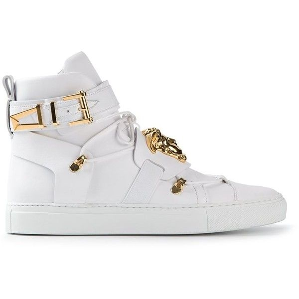 Versace Medusa Hi-Top Sneakers ($1,026) found on Polyvore