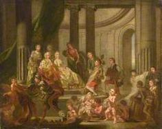 The Muses Paying Homage to Frederick, Prince of Wales and Princess Augusta (The Artists Presenting a Plan for an Academy to Frederick, Prince of Wales and Princess Augusta), Francis Hayman (1708–1776), c. 1750-1751.