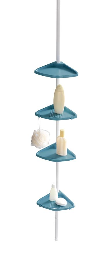 Das Eckregal COMPACT in hellblau ist universell einsetzbar in der Duschkabine, in der Badewannenecke oder im Badezimmer und bietet ideale Ablagemöglichkeiten für Shampoo, Seife und andere Bad-Utensilien.