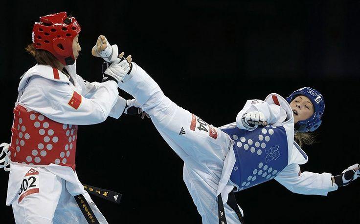 Jade Jones won Britain's first ever taekwondo gold when she beat Yuzhuo Hou of   China in the women's under-57kgs final...