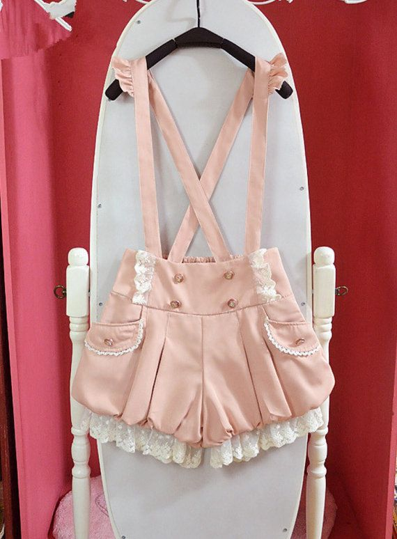 Super kawaii lolita overalls / shorts great for by KittenOfSaturn