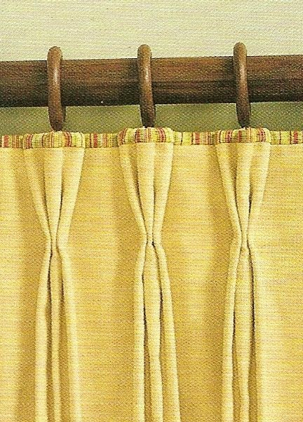 """2"""" standard, french, butterfly or pinch pleat with banding"""