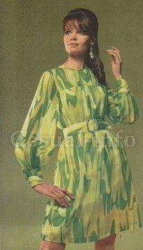 Синтетические платья и блузки с крупными яркими узорами есть в гардеробе, практически, у каждой женщины.70-х